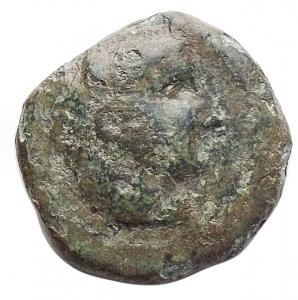 obverse: Mondo Greco - Sicilia.Cephaloedium.AE 13,9 mm. 344-336 a.C.D/ Testa di Eracle a destra, che indossa scalpo di leone.R/ Pegaso che vola a destra.Calciati 3. SNG ANS Appendix 2, 1320.g. 2,7. qBB-BB. Patina verde.R.