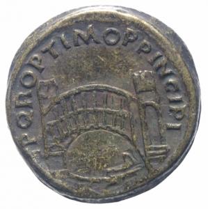 reverse: Medaglie.Medaglia imitativa ( Fake Coins) di sesterzio romano di Traiano,BB