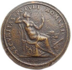 reverse: Medaglie - Papali di Restituzione. Sisto V. 1585-1590. Fusione Sec XVIII. gr 26,99. mm 36,25. Buona conservazione.
