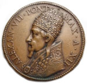 obverse: Medaglie - Alessandro VII. A. XII. 1655-1667. Ae. gr 27,66. mm 41,21. qSPL
