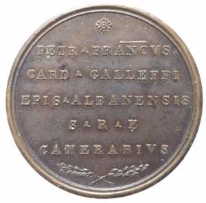 reverse: Medaglie . Sede Vacante 1829. Medaglia del Cardinale Camerlengo Pier Francesco Galleffi. Bo.92. AE. R. qFDC/FDC.