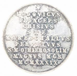 reverse: Medaglie .Ludovico Chigi.Gran Maestro dell  Ordine Gerosolimitano.1949.FDC.