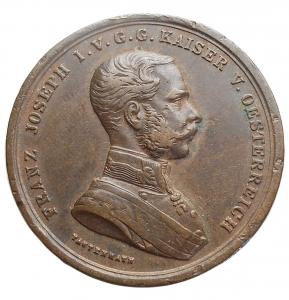 obverse: Medaglie - Austria. Francesco Giuseppe. Medaglia d onore al valor militare. Ae. gr 14,66. mm 31,29. Gancio rimosso. Buone condizioni