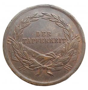 reverse: Medaglie - Austria. Francesco Giuseppe. Medaglia d onore al valor militare. Ae. gr 14,66. mm 31,29. Gancio rimosso. Buone condizioni