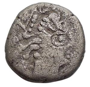 obverse: Celti - Gallia Cisalpina. Leponzi. Dracma Ag.D/ Testa di Artemide verso destra. R/ DIKOI Leone stilizzato verso destra. Peso g 1,72. Diametro mm 13,5 x 13,8. BB/qBB.