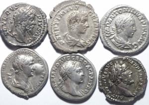 obverse: Lotti.Impero Romano.Lotto di 6 denari imperiali, da Traiano a Eliogabalo in buona conservazione, mediamente BB\BB+