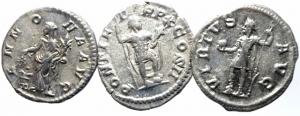reverse: Lotti.impero Romano.Lotto di 3 denari imperiali,presenti Caracalla e Alessandro Severo,ag, mediamente BB\BB+.