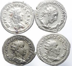 obverse: Lotti.Impero Romano.Lotto di 4 Antoniniani in ottima conservazione, Gordiano III,Filippo II e Traiano Decio.