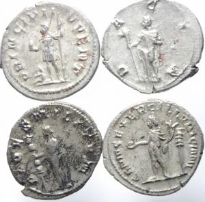 reverse: Lotti.Impero Romano.Lotto di 4 Antoniniani in ottima conservazione, Gordiano III,Filippo II e Traiano Decio.