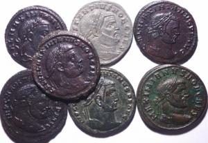 obverse: Lotti.Impero Romano.Lotto di 7 follis della tetrarchia in buone conservazioni,mediamente oltre il BB.