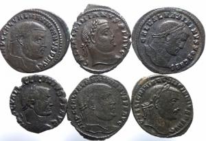 obverse: Lotti.Impero Romano.Lotto di 7 follis della tetrarchia.Mediamente BB\BB+.w
