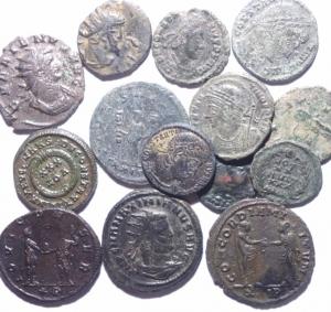 obverse: Lotti.Impero Romano.Lotto di 14 monete imperialeidel III e IV secolo,mediamente BB.