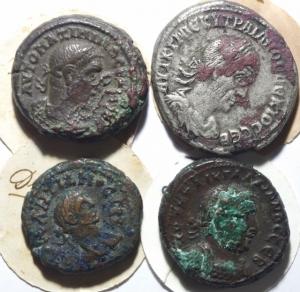 obverse: Lotti.Provincia Romana.Lotto di 4 monete Alessandria e Antiochia, mediamente BB