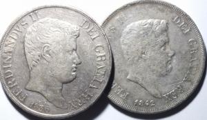 obverse: Lotti.Zecche Italiane.Lotto di 2 moneta da 120 grana Napoli.Mediamente BB.