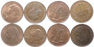 obverse: Lotti.Casa Savoia.Lotto di 8 monete da 1 centesimo in ottime conservazione,mediamente SPL