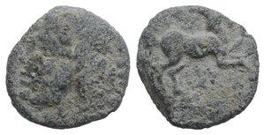 obverse: Roman PB Tessera, c. 3rd-2nd century BC (12mm, 2.47g, 6h). Head of Janus. R/ Horse standing r. Good Fine / near VF