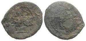 obverse: Roman PB Tessera, c. 3rd-2nd century BC (21mm, 5.86g, 11h). Head of Janus. R/ Horse standing r. Good Fine