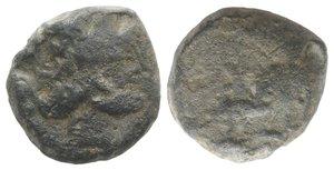 obverse: Roman PB Tessera, c. 3rd-2nd century BC (16mm, 7.62g, 9h). Head of Janus. R/ Horse standing r. Fine