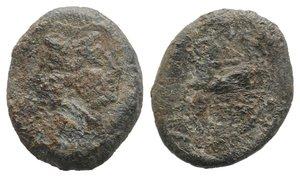 obverse: Roman PB Tessera, c. 3rd-2nd century BC (21mm, 9.18g, 9h). Head of Janus. R/ Horse standing r. Fine