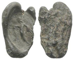 obverse: Roman PB Seal, c. 1st century BC - 1st century AD (18mm, 2.38g). Sol(?) standing l. VF
