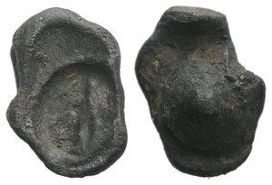 obverse: Roman PB Seal, c. 1st century BC - 1st century AD (16mm, 2.93g). Female figure standing l., holding drapery. Near VF
