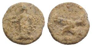 obverse: Roman PB Tessera, c. 1st century BC - 1st century AD (13.5mm, 2.55g, 6h). Fortuna standing l., holding rudder and cornucopiae. R/ Two clasped hands. Rostowzew 2196. Near VF