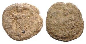 obverse: Roman PB Tessera, c. 1st century BC - 1st century AD (14mm, 2.47g). R/ Mercury(?) standing l. R/ Uncertain. Fine