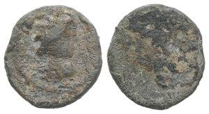 obverse: Roman PB Tessera, c. 1st century BC - 1st century AD (14mm, 2.20g). Radiate and draped bust of Sol(?) r. R/ Blank. About VF