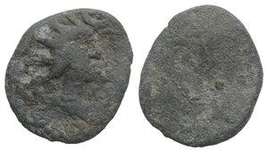 obverse: Roman PB Tessera, c. 1st century BC - 1st century AD (16mm, 2.36g). Radiate and draped bust of Sol(?) r. R/ Blank. Near VF