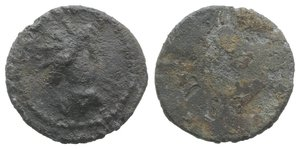 obverse: Roman PB Tessera, c. 1st century BC - 1st century AD (15mm, 2.26g). Radiate and draped bust of Sol(?) r. R/ Blank. Near VF