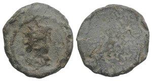 obverse: Roman PB Tessera, c. 1st century BC - 1st century AD (16mm, 3.34g). Radiate and draped bust of Sol(?) r. R/ Blank. Near VF