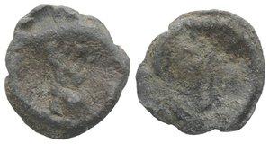 obverse: Roman PB Tessera, c. 1st century BC - 1st century AD (15mm, 2.29g). Radiate and draped bust of Sol(?) l. R/ Blank. Good Fine