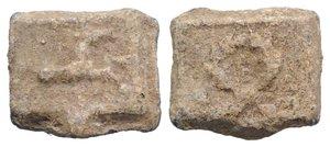 obverse: Roman PB Tessera, c. 1st century BC - 1st century AD (16.5mm, 4.62g, 12h). Horse leaping r. R/ Wreath. Cf. Rostowzew 781. VF