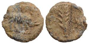 obverse: Roman PB Tessera, c. 1st century BC - 1st century AD (17mm, 3.77g, 3h). Palm-branch. R/ Palm-branch. Near VF
