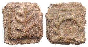 obverse: Roman PB Tessera, c. 1st century BC - 1st century AD (16mm, 4.10g, 12h). Wreath. R/ Branch. Rostowzew 3286. VF