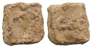obverse: Roman PB Tessera, c. 1st century BC - 1st century AD (11mm, 1.63g, 12h). CM. R/ Figure standing facing. Near VF