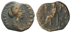 obverse: Crispina (Augusta, 178-182). Æ Dupondius or As (24mm, 7.65g, 12h). Rome. Draped bust r. R/ Venus seated left, holding Victory and sceptre. RIC III 686 (Commodus). Good Fine