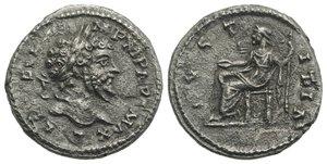 obverse: Septimius Severus (193-211). Fourrèe(?) Denarius (18.5mm, 2.02g, 12h). Laodicea, 198-200. Laureate head r. R/ Justitia seated l., holding patera and sceptre. RIC IV 505; RSC 251. Porous, VF