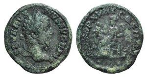 obverse: Septimius Severus (193-211). Contemporary imitation of AR Denarius (18mm, 2.66g, 11h). Laureate head r. R/ Salus seated l. feeding serpent. For prototype cf. RIC IV 230. Green patina, Good Fine