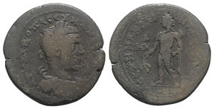 obverse: Macrinus (217-218). Cilicia, Tarsus. Æ (33mm, 16.10g, 12h). Laureate, draped and cuirassed bust r. R/ Apollo standing l., with quiver over shoulder, holding laurel branch. SNG BnF 1552; SNG Levante Supp. 272. Fine