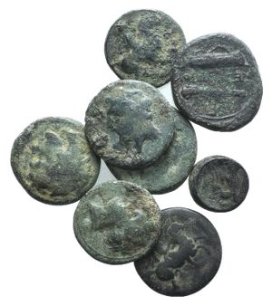 obverse: Lot of 8 Æ Greek coins, to be catalog. LOT SOLD AS IS, NO RETURNS