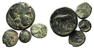 obverse: Lot of 4 Greek Æ coins, to be catalog. LOT SOLD AS IS, NO RETURN