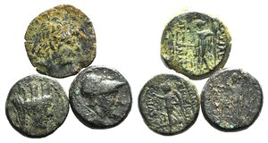 obverse: Lot of 3 Greek Æ coins, to be catalog. LOT SOLD AS IS, NO RETURN