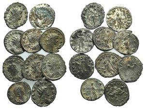 obverse: Lot of 10 Roman Antoninianii, including Gallienus (6), Salonina (2) and Valerian I (2). LOT SOLD AS IS, NO RETURNS