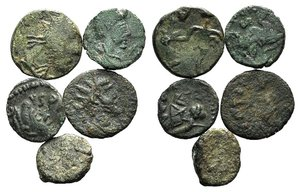 obverse: Barbaric Imitations, lot of 5 Æ coins, to be catalog. LOT SOLD AS IS, NO RETURNS