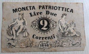 obverse: Italy, Venice. Venezia, Moneta Patriottica Lire 2, 1848