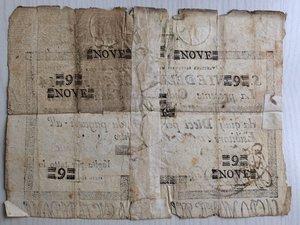 reverse: Italy, Rome (Roma). Papal State, S. Monte della Pieta  di Roma, cedola da Scudi Romani 9, 1796.