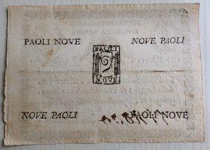 reverse: Italy, Rome (Roma). Prima Repubblica Romana 9 Paoli Anno VII (1798)