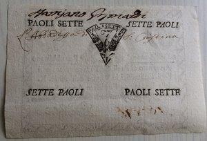 reverse: Italy, Rome (Roma). Prima Repubblica Romana 7 Paoli Anno VI (1798)