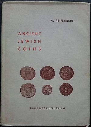 obverse: Reifenberg A., Ancient Jewish Coins. Rubin Mass, fourth edition, Jerusalem 1965. Copertina rigida con sovraccoperta, 66pp., 16 tavole B/N. Buone condizioni, sovraccoperta leggermente danneggiata